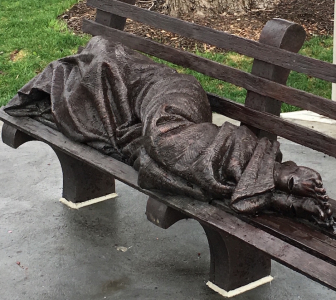 I Saw Jesus Lying on a Street Bench